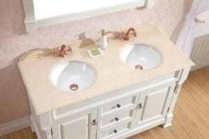 double sink vanity for manufactured home